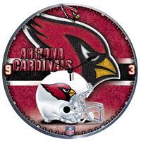 "Picture of Arizona Cardinals Plaque HD Clock 18"" Dia"