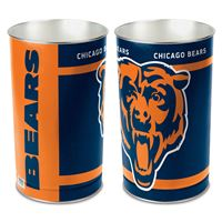 "Picture of Chicago Bears Wastebasket - tapered 15""H"