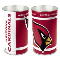 "Picture of Arizona Cardinals Wastebasket - tapered 15""H"