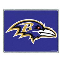 """Picture of Baltimore Ravens Glass Cutting Board 7"""" x 9"""""""