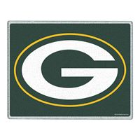 "Picture of Green Bay Packers Glass Cutting Board 7"" x 9"""