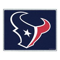 "Picture of Houston Texans Glass Cutting Board 7"" x 9"""
