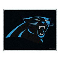 "Picture of Carolina Panthers Glass Cutting Board 7"" x 9"""