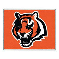 """Picture of Cincinnati Bengals Glass Cutting Board 7"""" x 9"""""""