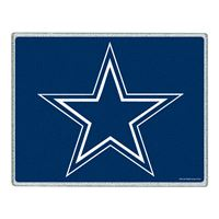 "Picture of Dallas Cowboys Glass Cutting Board 7"" x 9"""