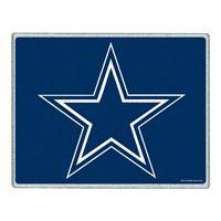 "Picture of Dallas Cowboys Glass Cutting Board 7"" x 9"""