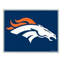 "Picture of Denver Broncos Glass Cutting Board 7"" x 9"""