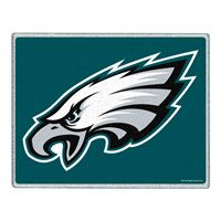 "Picture of Philadelphia Eagles Glass Cutting Board 7"" x 9"""