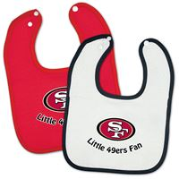 Picture of San Francisco 49ers Snap Baby Bib Two Pack