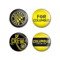"Picture of Columbus Crew SC Button 4 Pack 1 1/4"" Rnd"