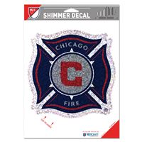 "Picture of Chicago Fire Shimmer Decals 5"" x 7"""
