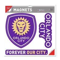 "Picture of Orlando City SC Vinyl Magnet 11"" x 11"""