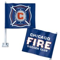 "Picture of Chicago Fire Car Flag 1175"" x 14"""
