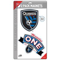 """Picture of San Jose Earthquakes 2 Pack Magnets 5"""" x 9"""""""