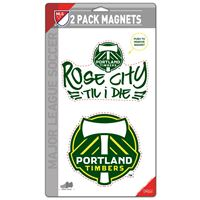 """Picture of Portland Timbers 2 Pack Magnets 5"""" x 9"""""""