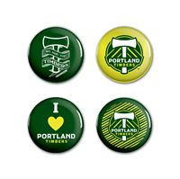 "Picture of Portland Timbers Button 4 Pack 1 1/4"" Rnd"