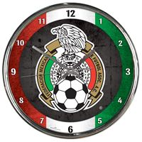 Picture of Mexican National Soccer Chrome Clock