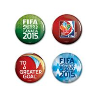 """Picture of Women's World Cup Generic Button 4 Pack 1 1/4"""" Rnd"""