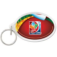 Picture of Women's World Cup Generic Acrylic Key Ring Oval
