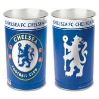 "Picture of Chelsea FC Wastebasket - tapered 15""H"