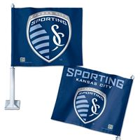 "Picture of Sporting Kansas City Car Flag 1175"" x 14"""