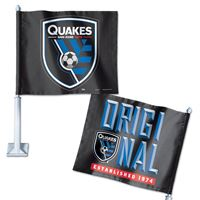 """Picture of San Jose Earthquakes Car Flag 1175"""" x 14"""""""