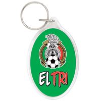 Picture of Mexican National Soccer Acrylic Key Ring Carded Oval