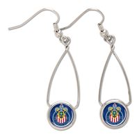 Picture of MLS Chivas USA French Loop Earrings Jewelry Card