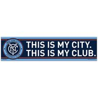 "Picture of New York City FC Bumper Strip 3"" x 12"""