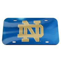 Picture of Notre Dame Crystal Mirror License Plate