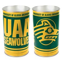 "Picture of Alaska - Anchorage, University of Wastebasket - tapered 15""H"