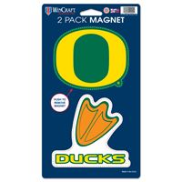 "Picture of Oregon, University of 2 Pack Magnets 5"" x 9"""