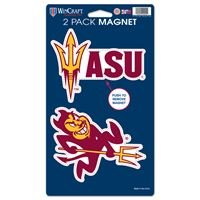 "Picture of Arizona State University 2 Pack Magnets 5"" x 9"""