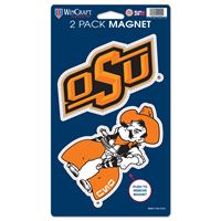 "Picture of Oklahoma State University 2 Pack Magnets 5"" x 9"""