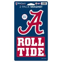 "Picture of Alabama, University of 2 Pack Magnets 5"" x 9"""
