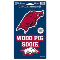 "Picture of Arkansas, University of 2 Pack Magnets 5"" x 9"""