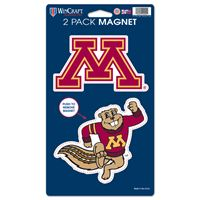 "Picture of Minnesota, University of 2 Pack Magnets 5"" x 9"""