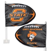 Picture of Oklahoma State University Shaped Car Flag