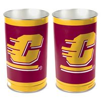 "Picture of Central Michigan University Wastebasket - tapered 15""H"