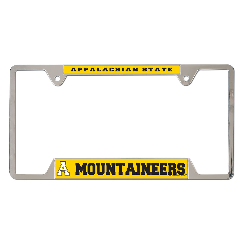 picture of appalachian state university metal license plate frame