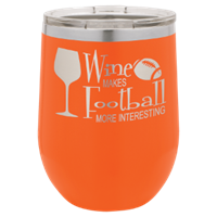 Picture of  LTM862 - Polar Camel 12 oz. Orange Vacuum Insulated Stemless Wine Tumbler w/Lid