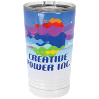 Picture of STM642 - White Sublimatable 16 oz. Polar Camel Pint with Slider Lid